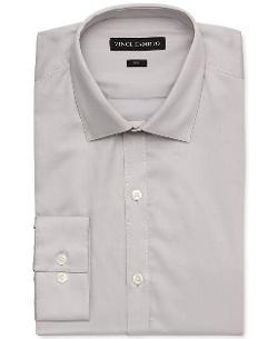 Vince Camuto S - Slim-Fit Sateen Dress Shirt