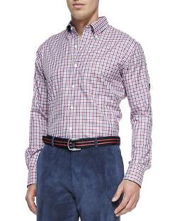 Peter Millar - Small Tattersall Sport Shirt