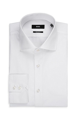 Boss - Spread Collar Easy Iron Cotton Dress Shirt