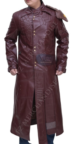 Premium Leather Garments - Synthetic Leather Long Coat