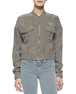 J Brand Jeans - Santa Fe Cropped Bomber Jacket