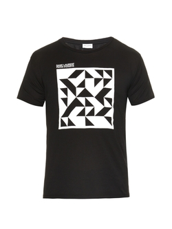 Saint Laurent - Geometric-Print T-Shirt