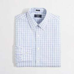 Factory Thompson  - Wrinkle-free Point-collar Dress Shirt In Exploded Tattersall