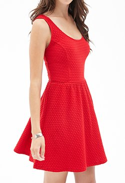 Forever 21 - Textured Fit & Flare Dress