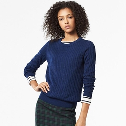 Uniqlo - Women Cotton Cashmere Cable Crewneck Sweater