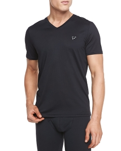Frigo   - Mesh V-Neck T-Shirt