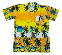 Hawaii Tropical Designs - Coconut Shirt Short Sleeve Shirt