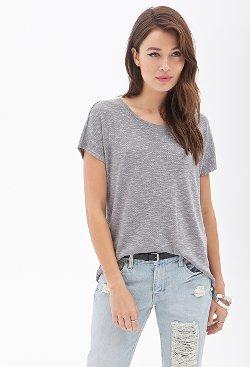 Forever 21 - Heathered Knit Tee Shirt