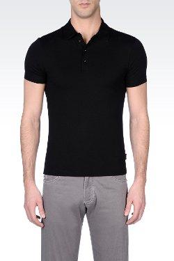 Armani Collezioni - Viscose Jersey Polo Shirt