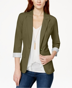 BCX  - Three-Quarter-Sleeve Blazer