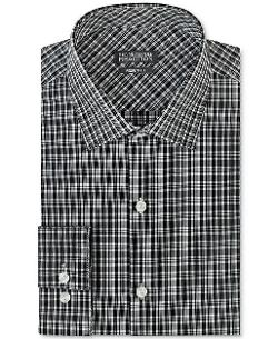 Kenneth Cole  - Reaction Black and White Plaid Dress Shirt