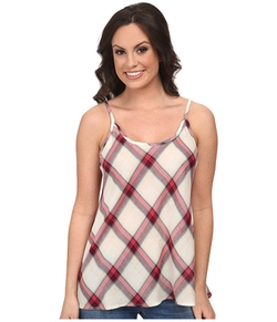 Stetson - Coral Plaid Tank Top