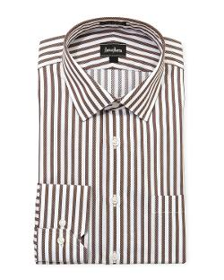 Neiman Marcus  - Regular-Finish Classic-Fit Striped Dress Shirt