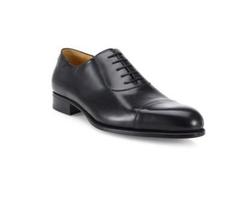 A. Testoni - Leather Cap Toe Oxford Shoes