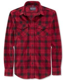 American Rag - Plaid Fleece Button Down Shirt