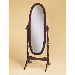 Furnituremaxx.com - Traditional Style Wood Cheval Floor Mirror