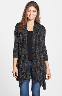 Nikki Rich  - Metallic Knit Long Cardigan