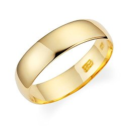 Wedding Band By Lovearing - Plain Light Weight Comfort Fit Style Wedding Band Ring