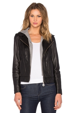 Doma - Hooded Leather Jacket