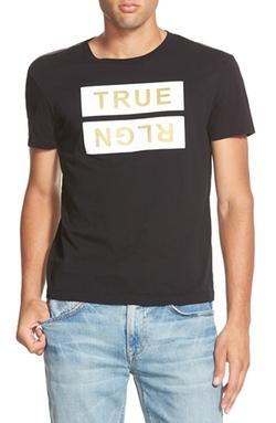 True Religion Brand Jeans - Metallic Logo Graphic T-Shirt