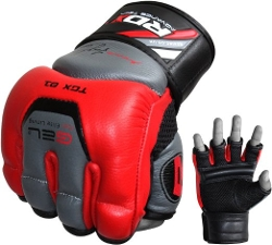 RDX - Leather Gel Tech MMAGrappling Gloves