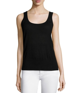Michael Kors Collection  - Cashmere Scoop-Neck Tank Top