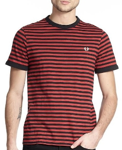 Fred Perry - Slub Stripe Ringer Tee