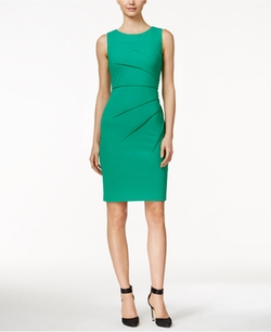 Calvin Klein  - Sunburst Sheath Dress