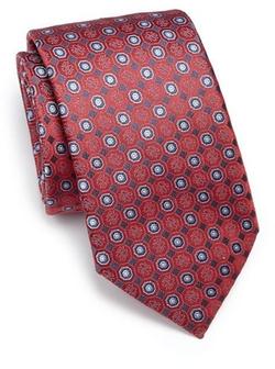 Brioni  - Medallion Silk Tie