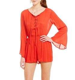 Band Of Gypsies - Bell Sleeve Grommet Romper