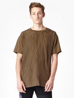 Alexander McQueen - Silk Front Crew Neck T-Shirt