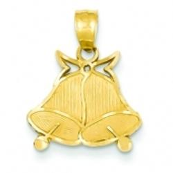 Red Bell Box Jewels - 14k Gold Bells Pendant