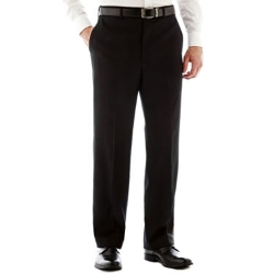 Savane - Flat-Front Sharkskin Pants