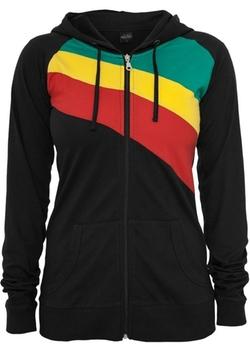 Urban Classics - 3 Color Jersey Zip Hoodie