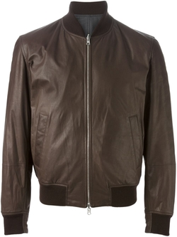 Brunello Cucinelli - Leather-Look Bomber Jacket
