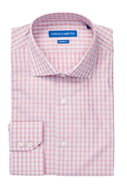 Vince Camuto - Sateen Check Modern Fit Shirt