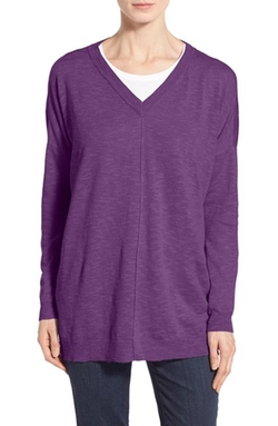 Eileen Fisher - V-Neck Linen Cotton Sweater