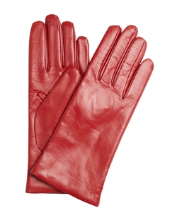 Red Nappa  - Leather Itouch Tech Gloves