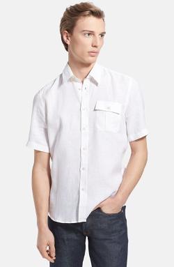 Vilebrequin  - Caramel Short Sleeve Linen Shirt
