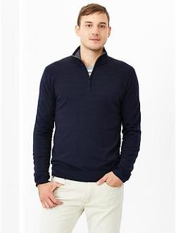 Gap - Merino Half-zip Sweater