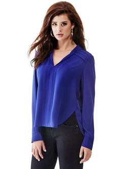 Guess - Pleated Popover Blouse