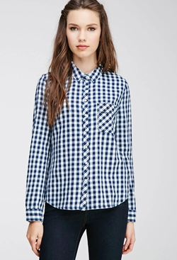Forever21 - Gingham-Patterned Shirt