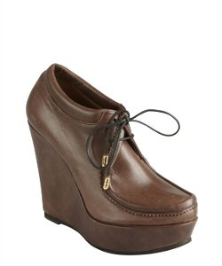 Ritch Erani NYFC - Brown Leather Wedge Booties