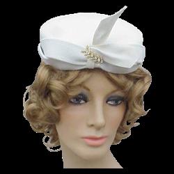 Ruby Lane - Vintage Felt Pillbox Cocktail Hat