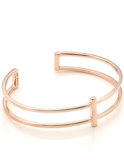 Maria Black - Rose Gold Row Bangle Bracelet
