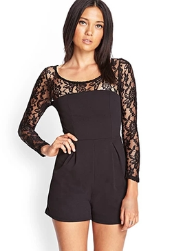 Forever 21 - Textured Floral Lace Romper