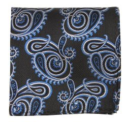 The Tie Bar  - Paisley Pocket Square