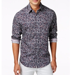 Tasso Elba - Galleria Paisley Long-Sleeve Shirt