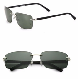 Montblanc  - Rimless Rectangle Sunglasses