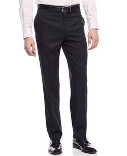 Ralph Lauren -  Wool Solid Black Dress Pants